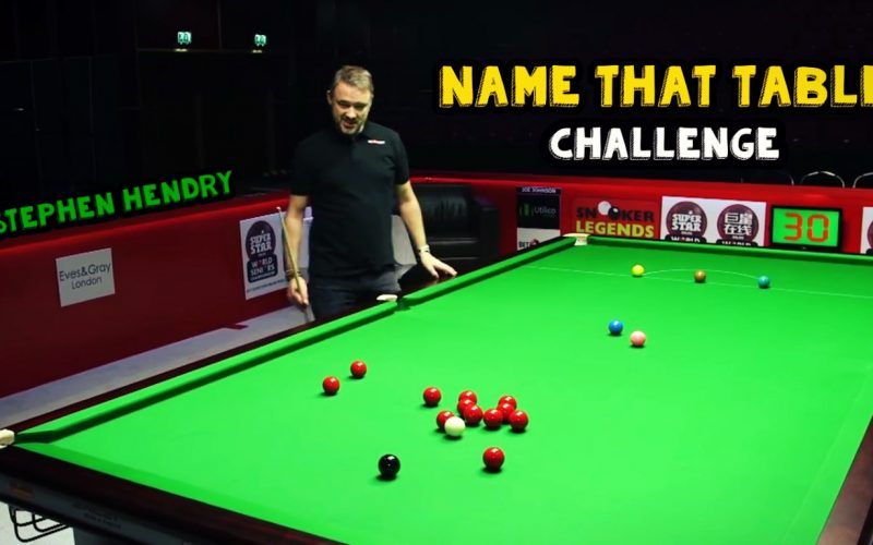 Stephen Hendry Name That Table Challenge